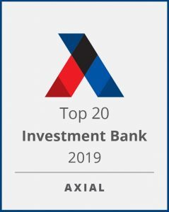 Top Investment Banks - Axial 2019