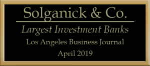 Largest Investment Banks - Los Angeles Business Journal 2019