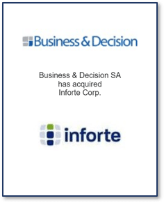 Business & Decision acquires Inforte